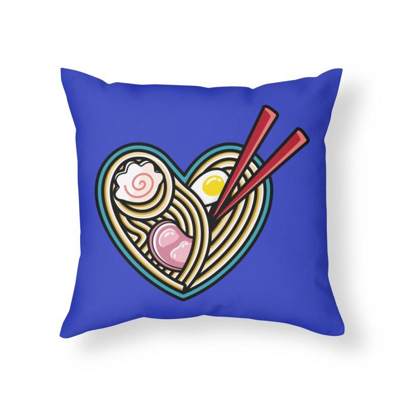 Love Ramen Home Throw Pillow by Flaming Imp's Artist Shop