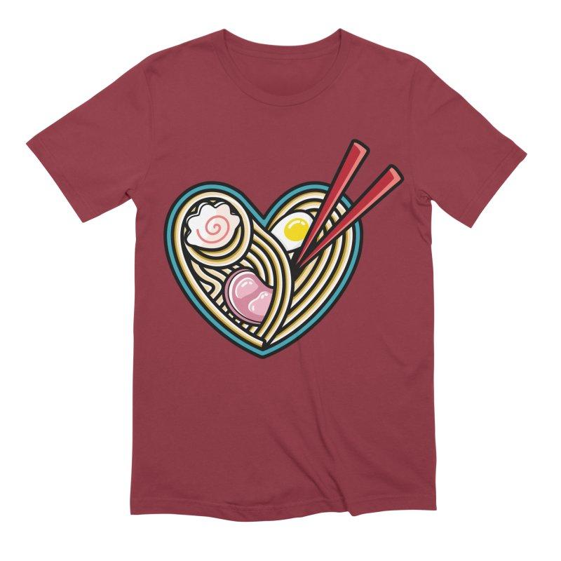 Love Ramen Men's Extra Soft T-Shirt by Flaming Imp's Artist Shop