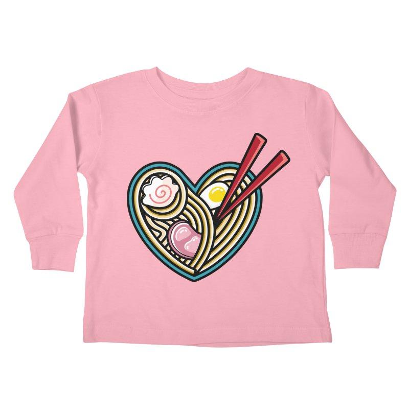 Love Ramen Kids Toddler Longsleeve T-Shirt by Flaming Imp's Artist Shop