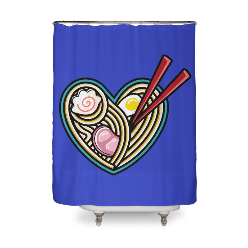 Love Ramen Home Shower Curtain by Flaming Imp's Artist Shop