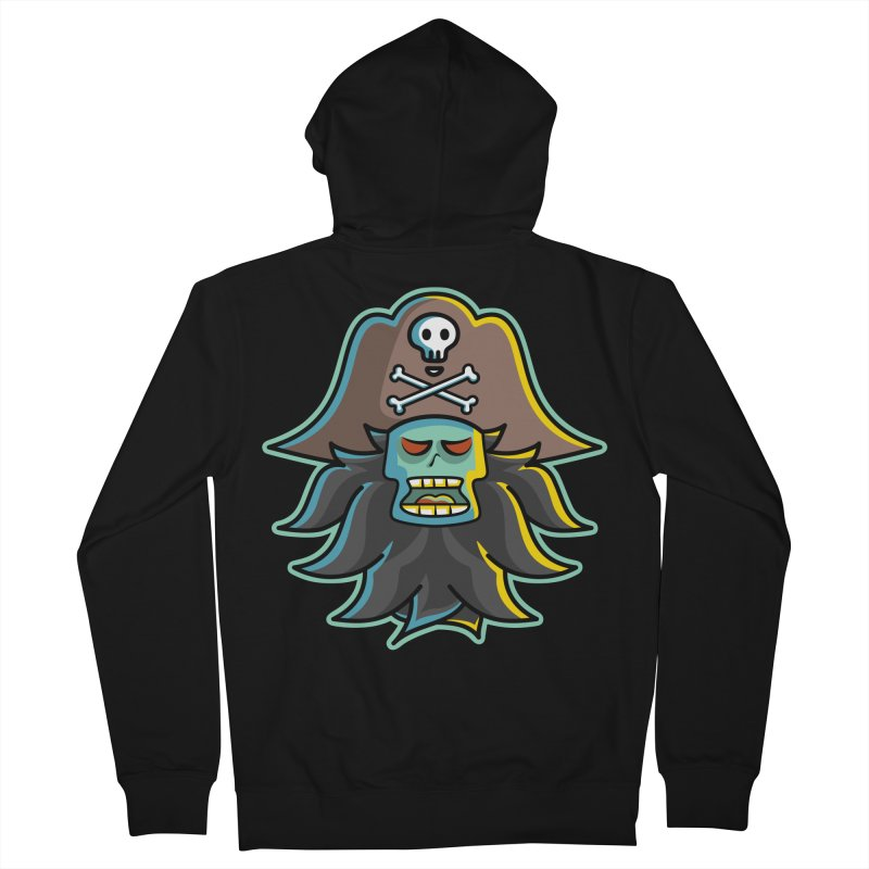 Pirate LeChuck Men's French Terry Zip-Up Hoody by Flaming Imp's Artist Shop