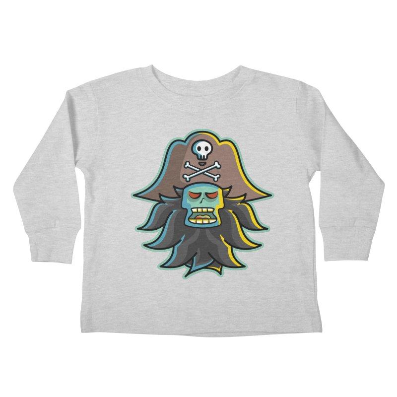 Pirate LeChuck Kids Toddler Longsleeve T-Shirt by Flaming Imp's Artist Shop