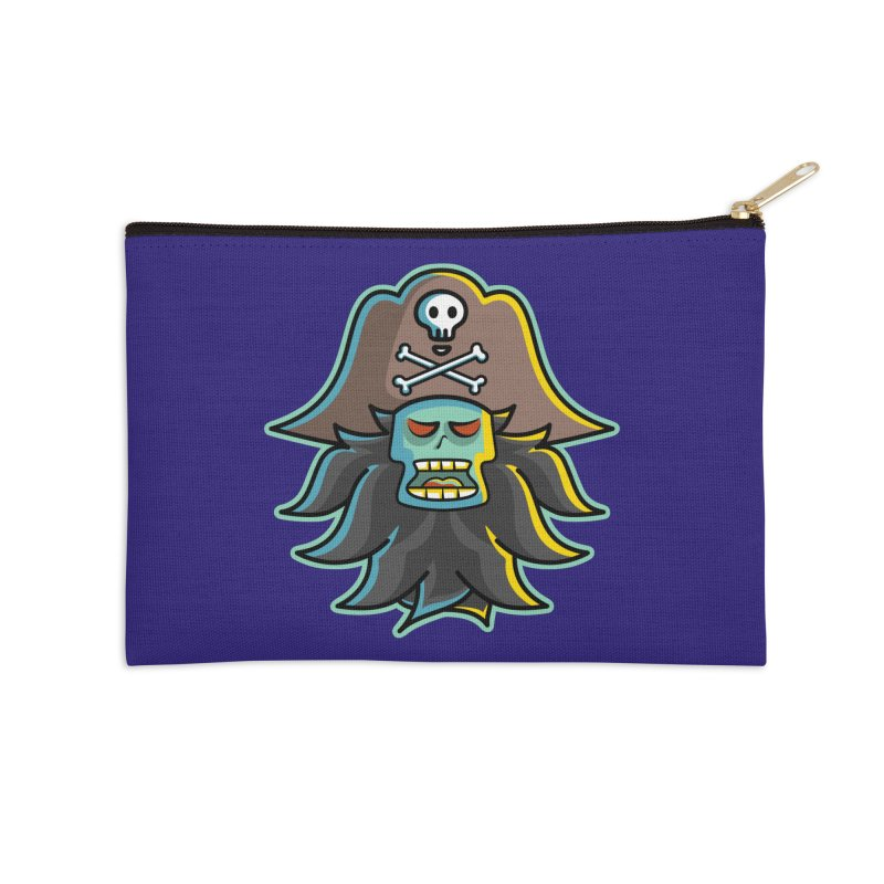 Pirate LeChuck Accessories Zip Pouch by Flaming Imp's Artist Shop