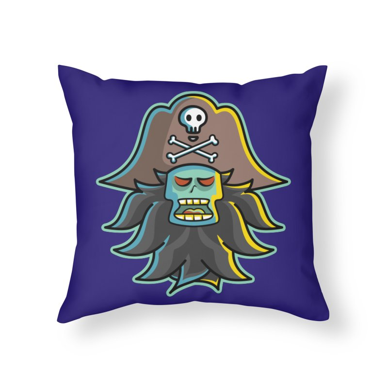 Pirate LeChuck Home Throw Pillow by Flaming Imp's Artist Shop