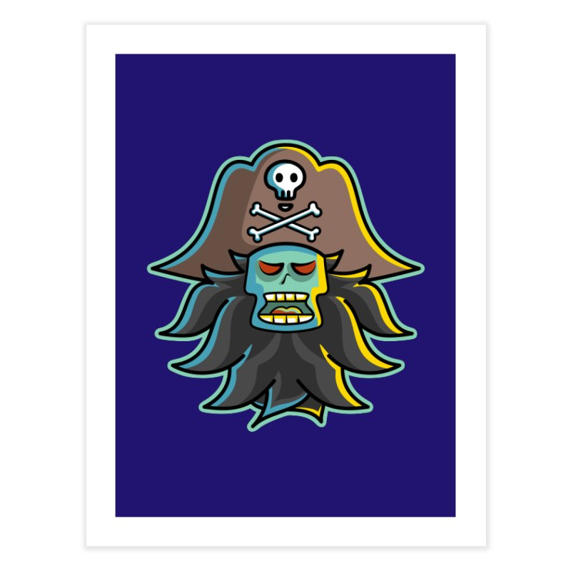 Pirate LeChuck Home Fine Art Print by Flaming Imp's Artist Shop