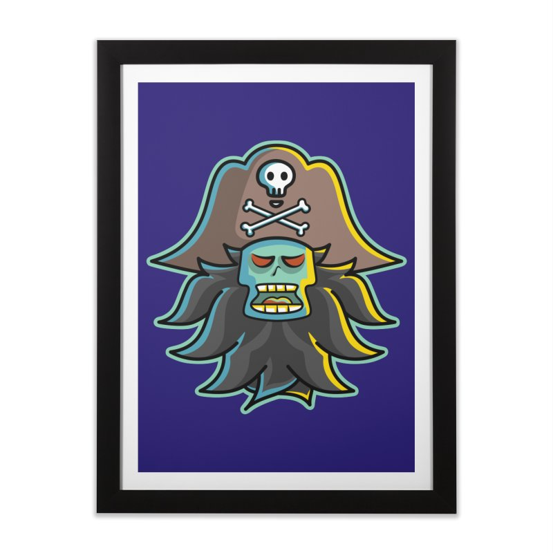 Pirate LeChuck Home Framed Fine Art Print by Flaming Imp's Artist Shop