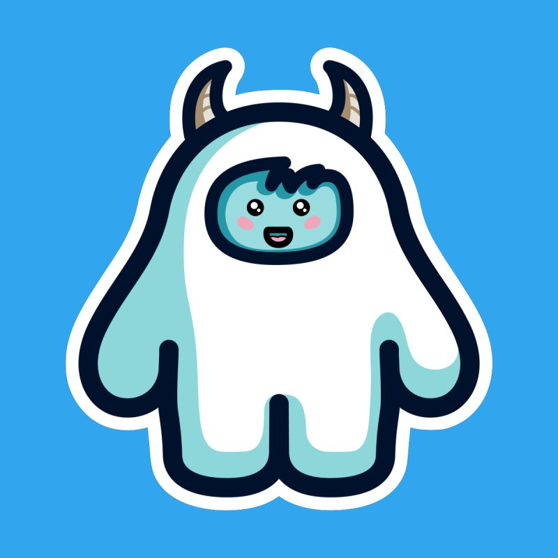 Kawaii Cute Abominable Snowman by Flaming Imp's Artist Shop