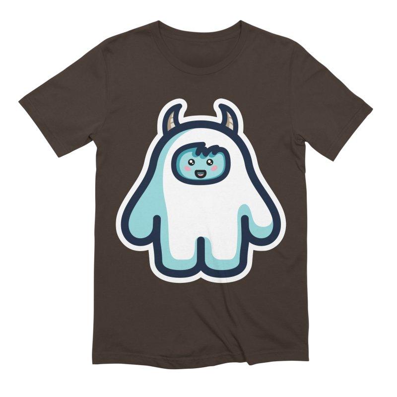 Kawaii Cute Abominable Snowman Men's Extra Soft T-Shirt by Flaming Imp's Artist Shop