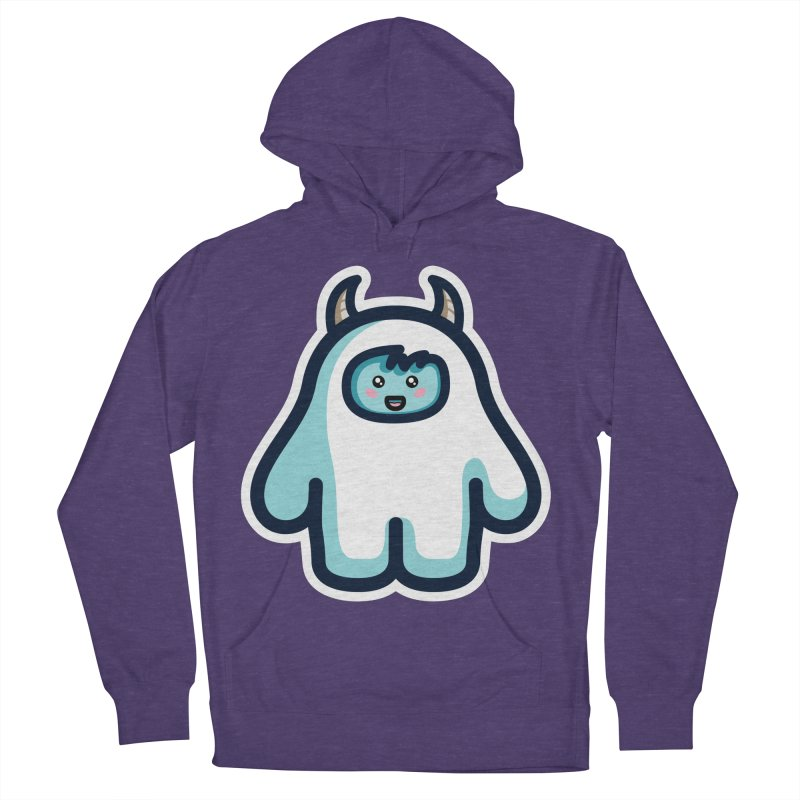 Kawaii Cute Abominable Snowman Women's French Terry Pullover Hoody by Flaming Imp's Artist Shop