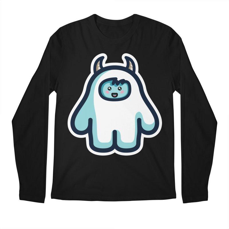 Kawaii Cute Abominable Snowman Men's Regular Longsleeve T-Shirt by Flaming Imp's Artist Shop