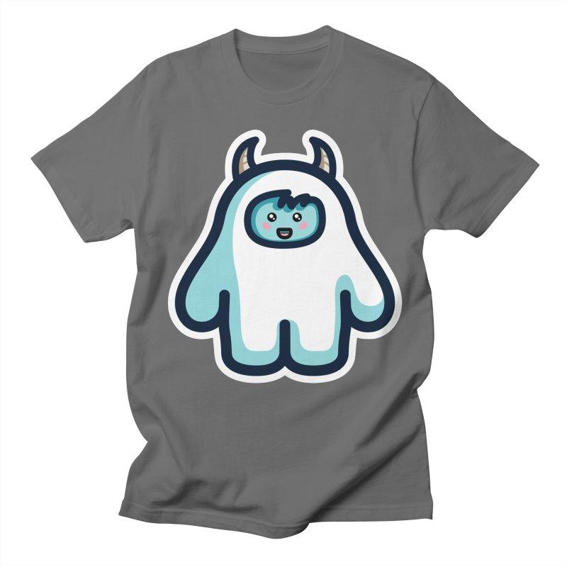 Kawaii Cute Abominable Snowman Men's T-Shirt by Flaming Imp's Artist Shop
