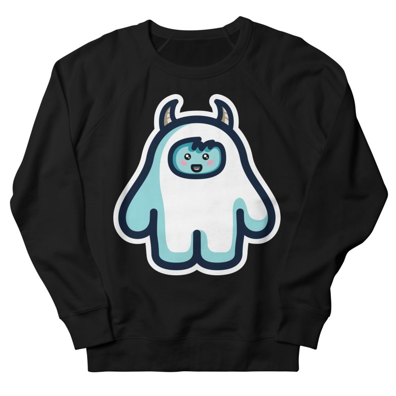 Kawaii Cute Abominable Snowman Women's French Terry Sweatshirt by Flaming Imp's Artist Shop