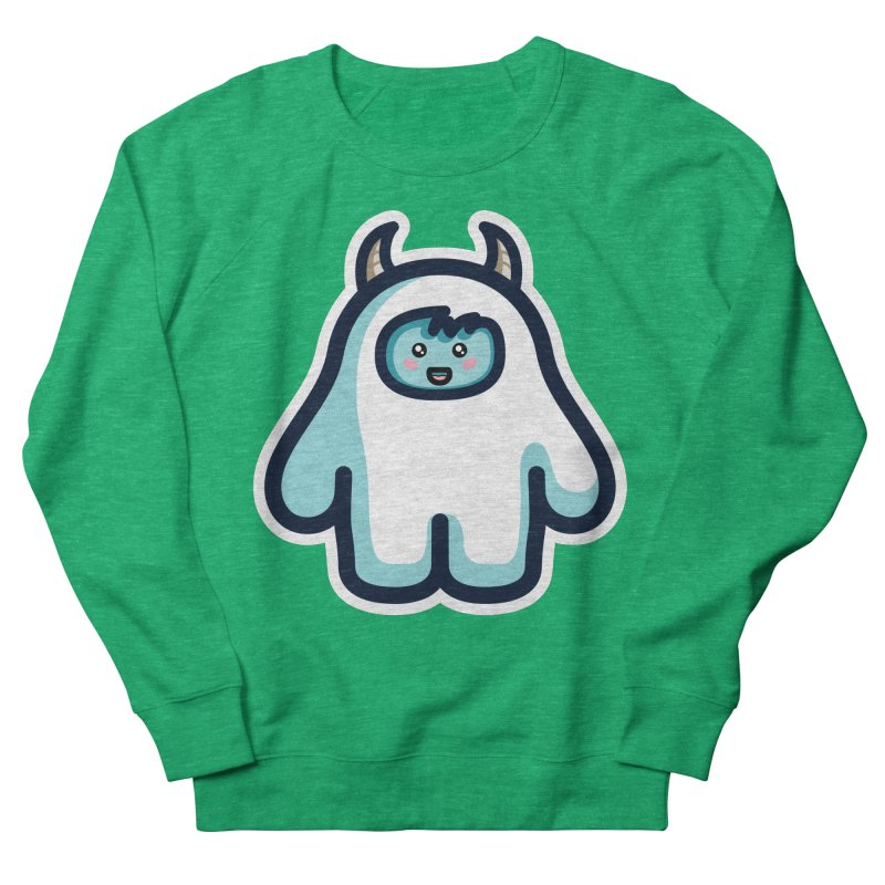 Kawaii Cute Abominable Snowman Men's French Terry Sweatshirt by Flaming Imp's Artist Shop