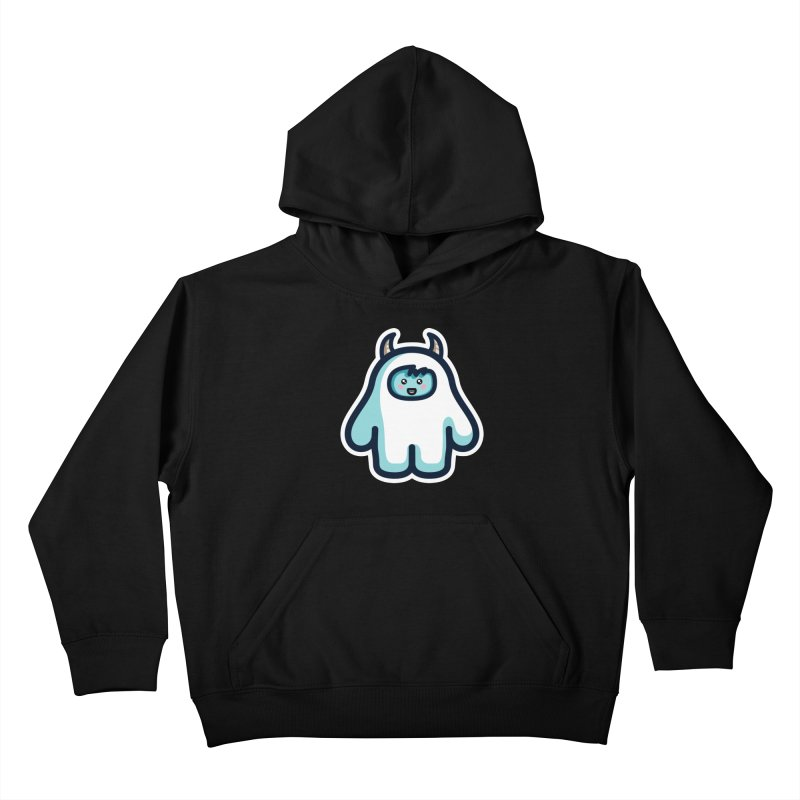 Kawaii Cute Abominable Snowman Kids Pullover Hoody by Flaming Imp's Artist Shop