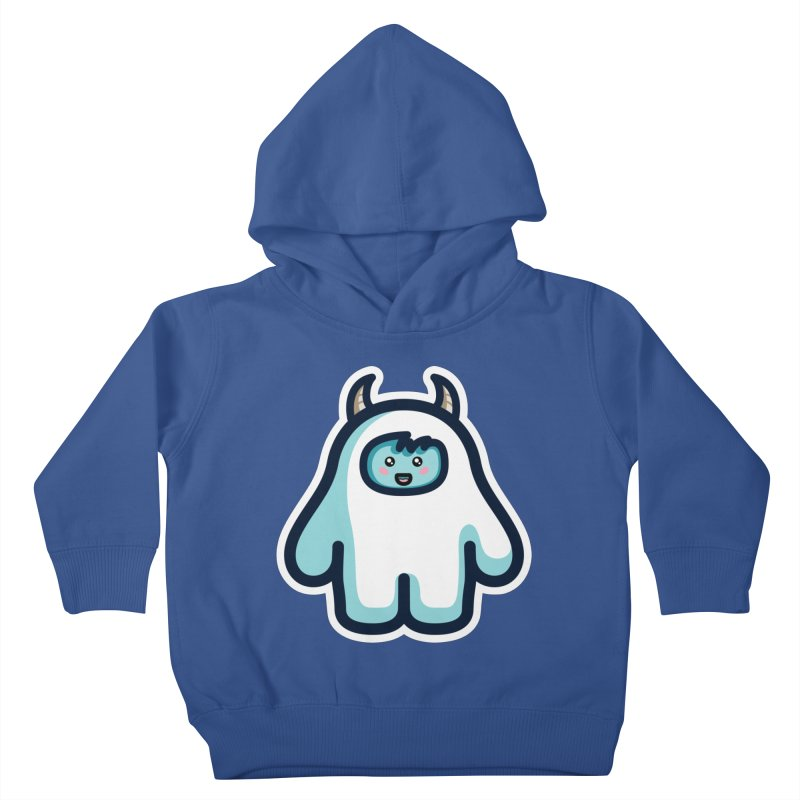 Kawaii Cute Abominable Snowman Kids Toddler Pullover Hoody by Flaming Imp's Artist Shop