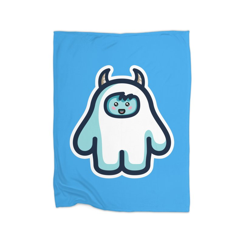 Kawaii Cute Abominable Snowman Home Blanket by Flaming Imp's Artist Shop