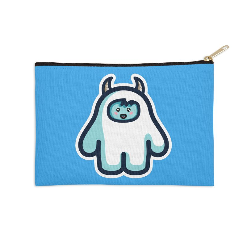 Kawaii Cute Abominable Snowman Accessories Zip Pouch by Flaming Imp's Artist Shop