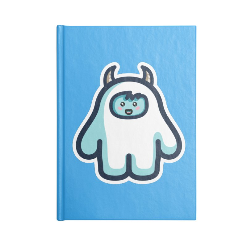 Kawaii Cute Abominable Snowman Accessories Notebook by Flaming Imp's Artist Shop
