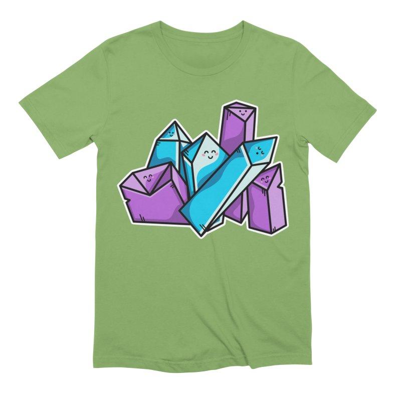 Kawaii Cute Crystals Men's Extra Soft T-Shirt by Flaming Imp's Artist Shop