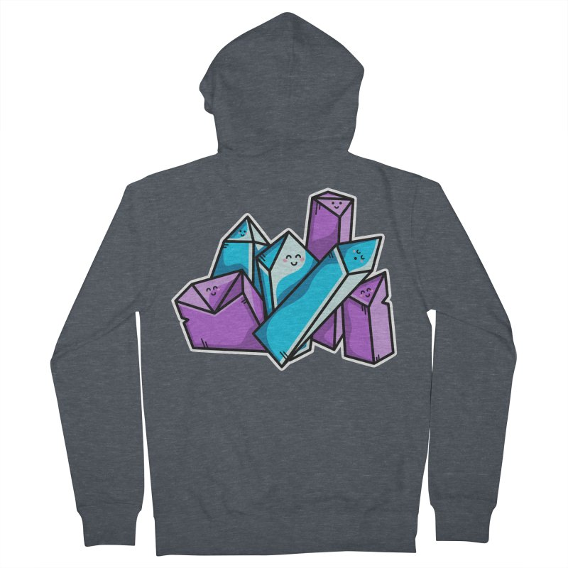 Kawaii Cute Crystals Men's French Terry Zip-Up Hoody by Flaming Imp's Artist Shop
