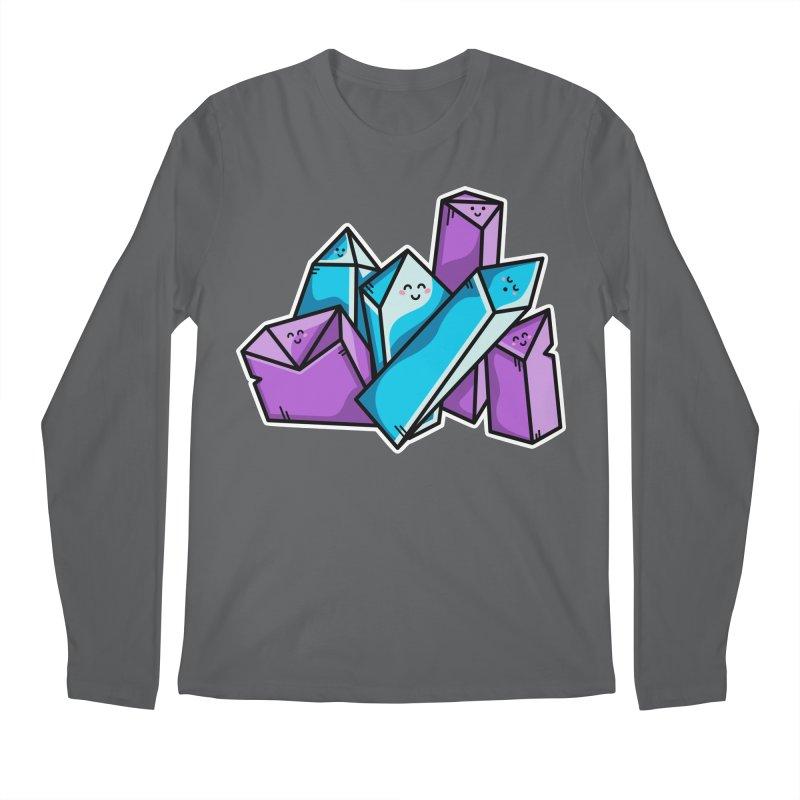 Kawaii Cute Crystals Men's Regular Longsleeve T-Shirt by Flaming Imp's Artist Shop