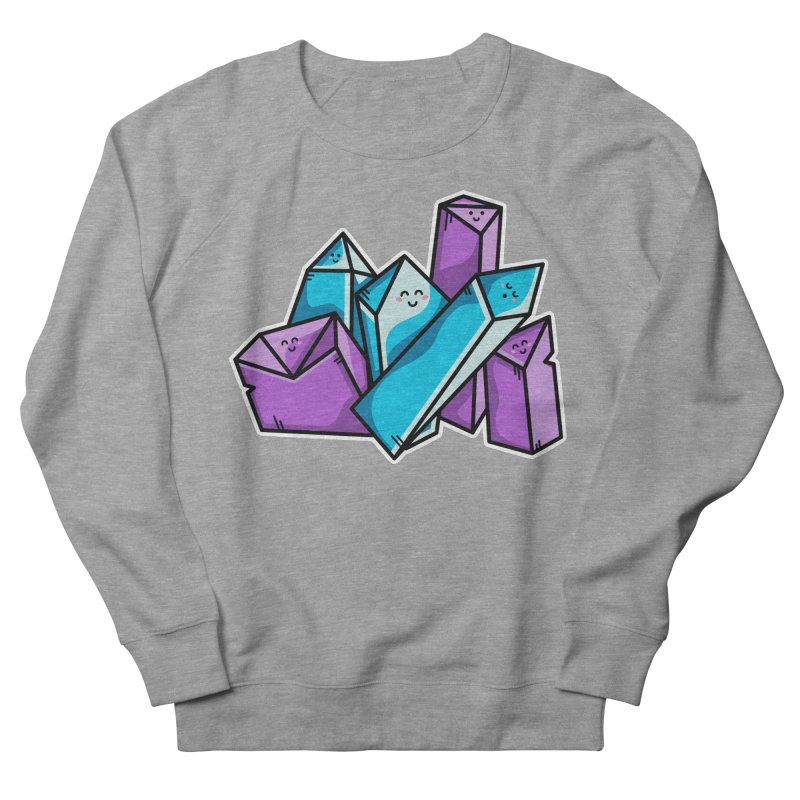 Kawaii Cute Crystals Women's French Terry Sweatshirt by Flaming Imp's Artist Shop