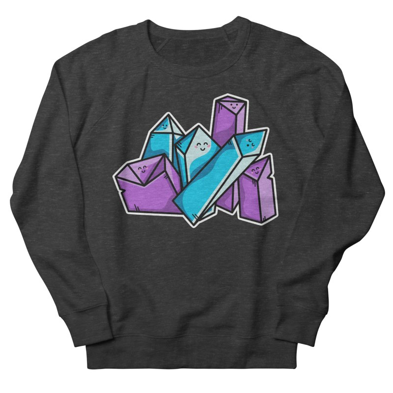 Kawaii Cute Crystals Men's French Terry Sweatshirt by Flaming Imp's Artist Shop