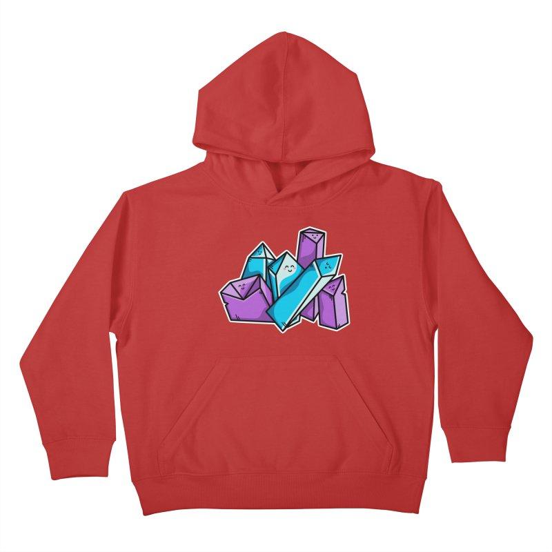 Kawaii Cute Crystals Kids Pullover Hoody by Flaming Imp's Artist Shop