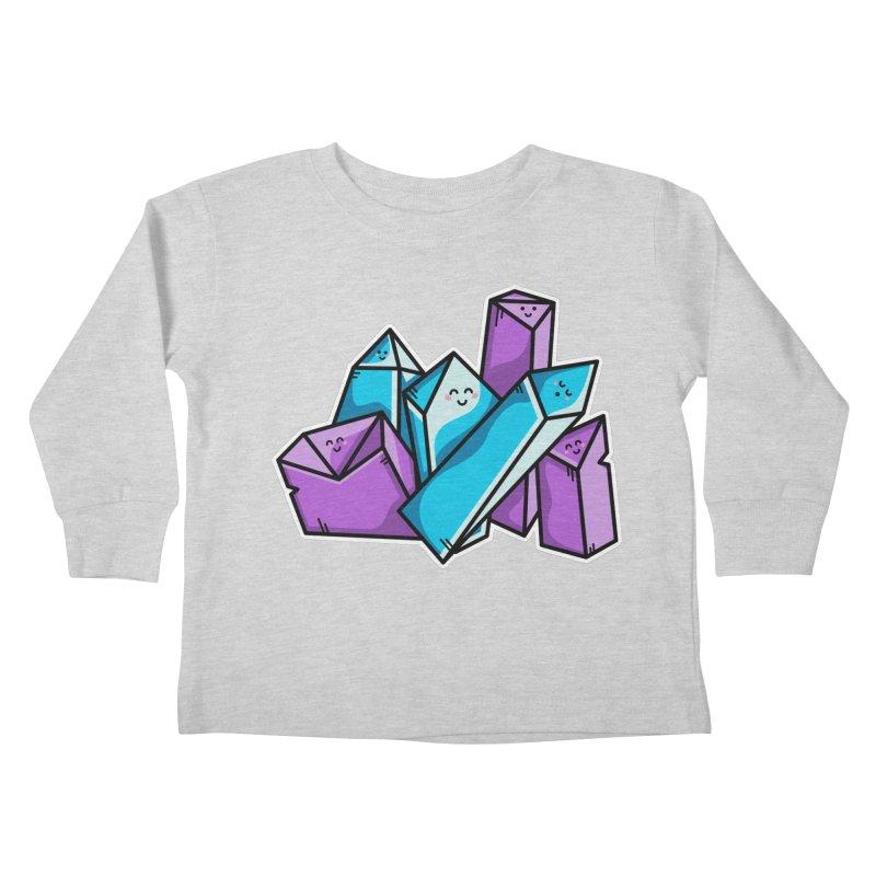 Kawaii Cute Crystals Kids Toddler Longsleeve T-Shirt by Flaming Imp's Artist Shop
