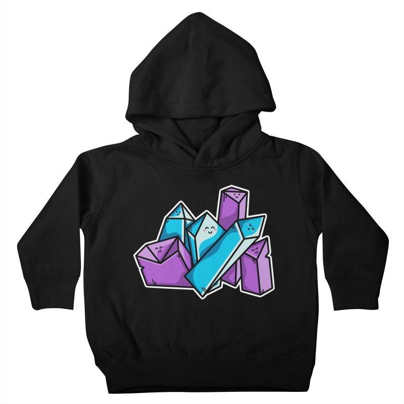 Kawaii Cute Crystals Kids Toddler Pullover Hoody by Flaming Imp's Artist Shop