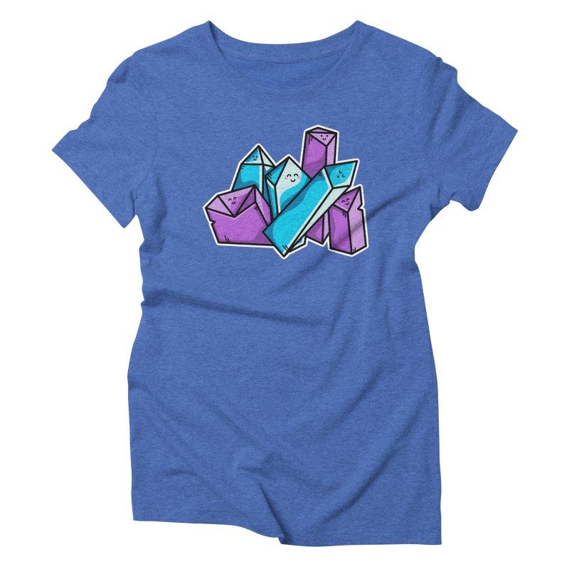 Kawaii Cute Crystals Women's Triblend T-Shirt by Flaming Imp's Artist Shop