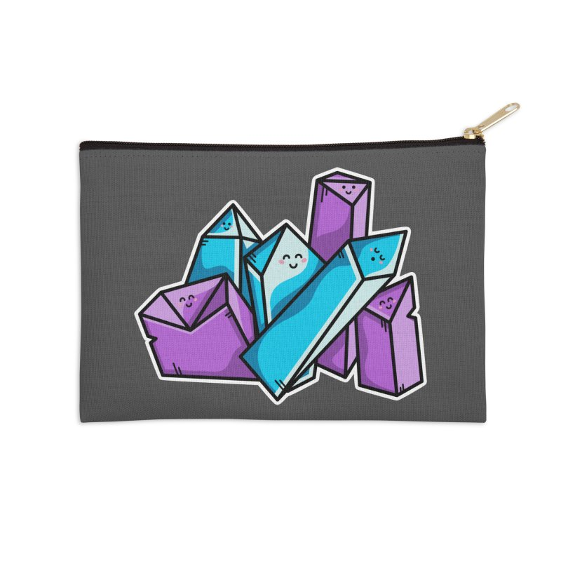 Kawaii Cute Crystals Accessories Zip Pouch by Flaming Imp's Artist Shop