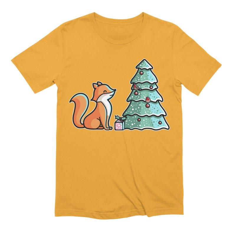 Cute Christmas Fox Men's Extra Soft T-Shirt by Flaming Imp's Artist Shop