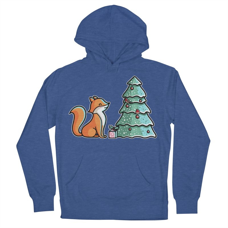 Cute Christmas Fox Women's French Terry Pullover Hoody by Flaming Imp's Artist Shop