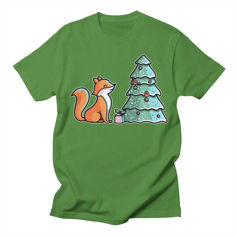 Cute Christmas Fox Women's Regular Unisex T-Shirt by Flaming Imp's Artist Shop