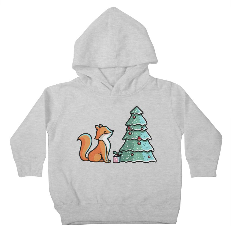 Cute Christmas Fox Kids Toddler Pullover Hoody by Flaming Imp's Artist Shop