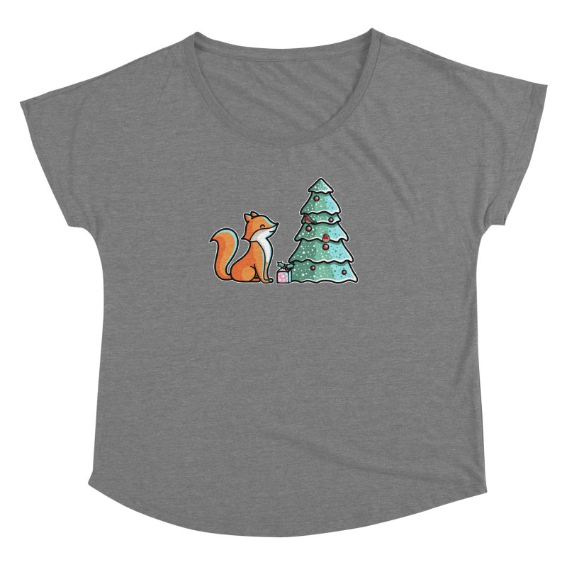 Cute Christmas Fox Women's Dolman Scoop Neck by Flaming Imp's Artist Shop