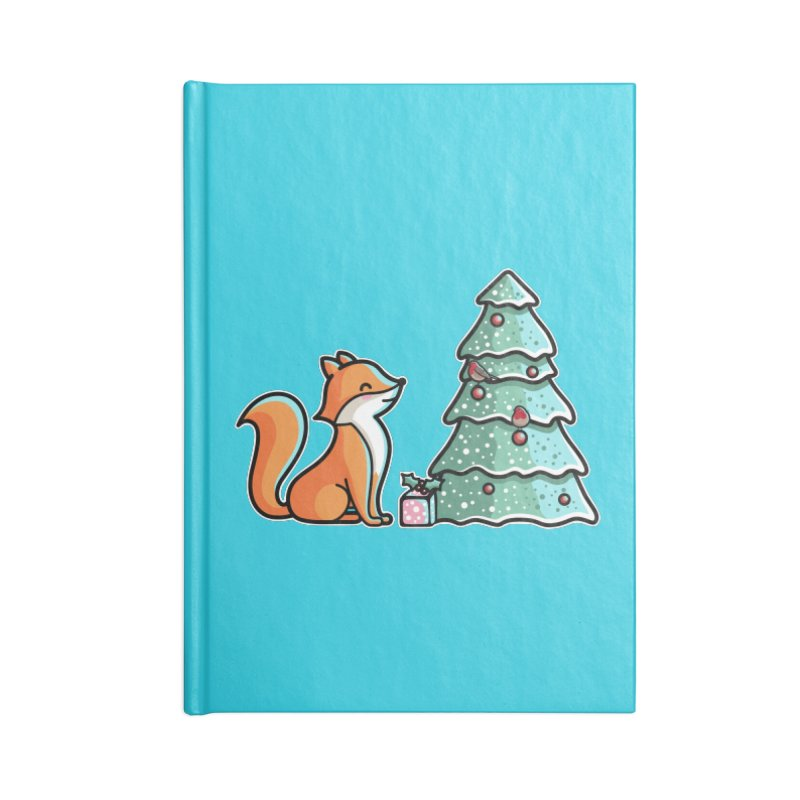 Cute Christmas Fox Accessories Notebook by Flaming Imp's Artist Shop