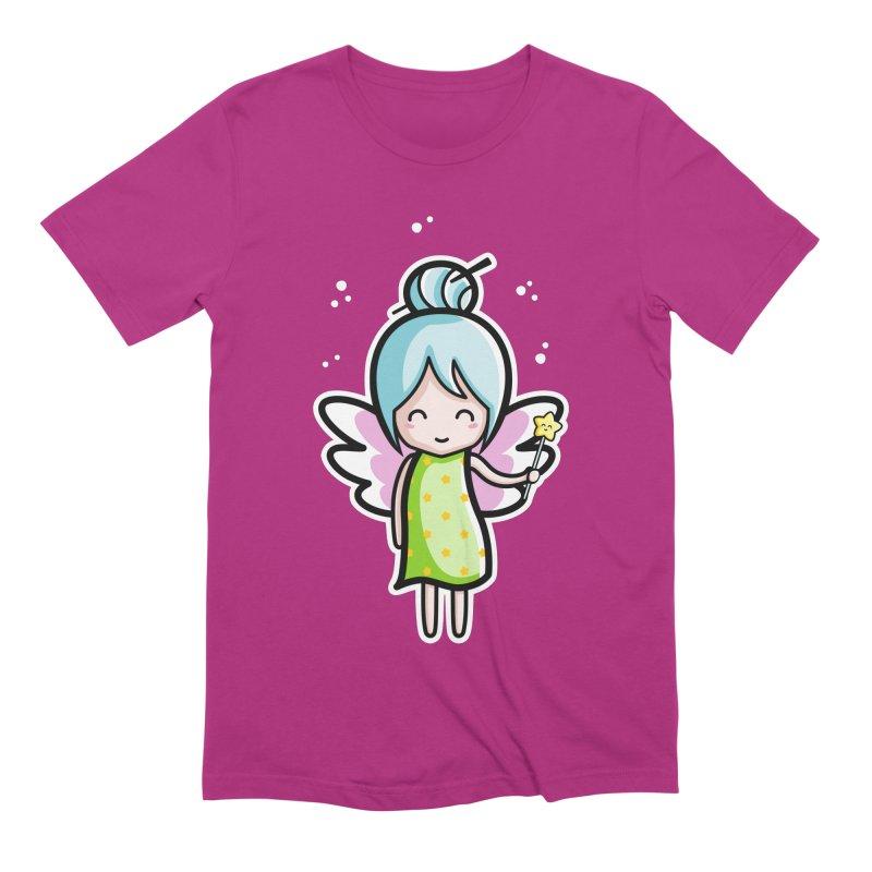 Kawaii Cute Fairy Men's Extra Soft T-Shirt by Flaming Imp's Artist Shop
