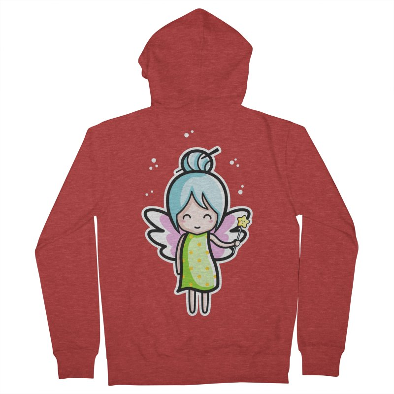 Kawaii Cute Fairy Men's French Terry Zip-Up Hoody by Flaming Imp's Artist Shop