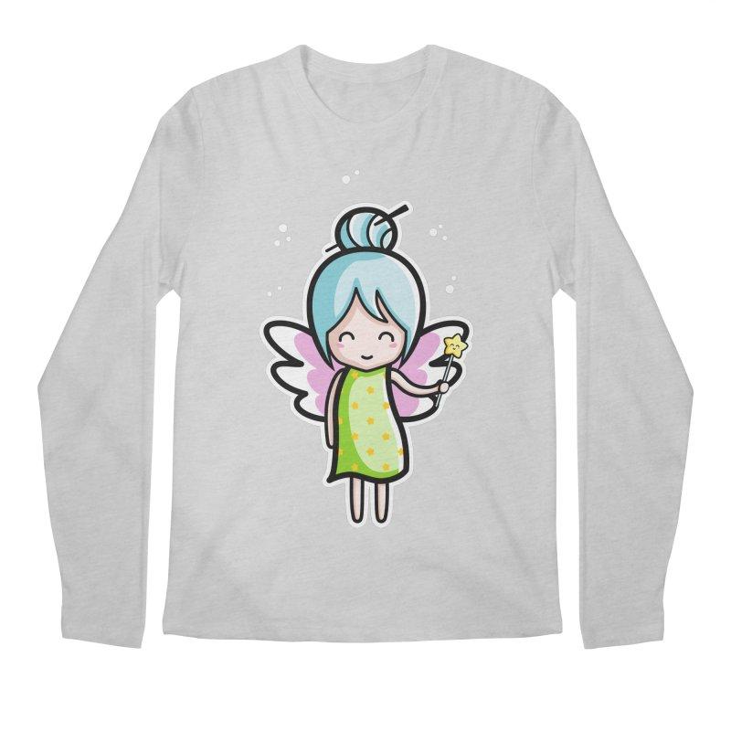 Kawaii Cute Fairy Men's Regular Longsleeve T-Shirt by Flaming Imp's Artist Shop