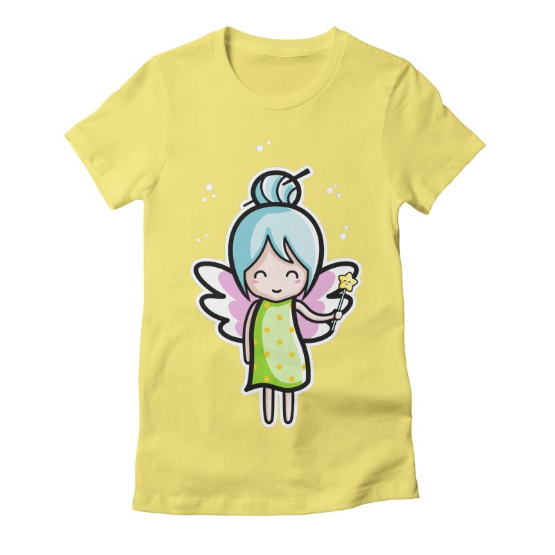 Kawaii Cute Fairy Women's Fitted T-Shirt by Flaming Imp's Artist Shop