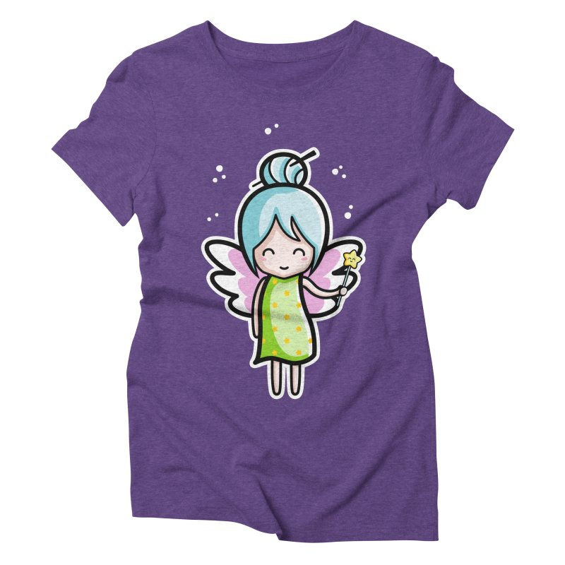 Kawaii Cute Fairy Women's Triblend T-Shirt by Flaming Imp's Artist Shop