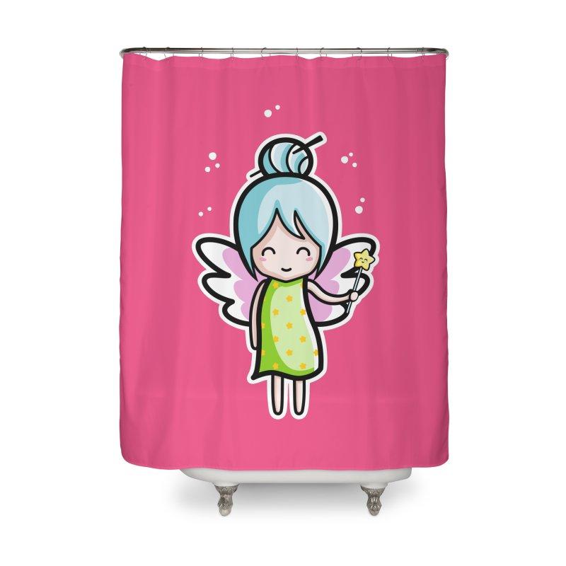 Kawaii Cute Fairy Home Shower Curtain by Flaming Imp's Artist Shop