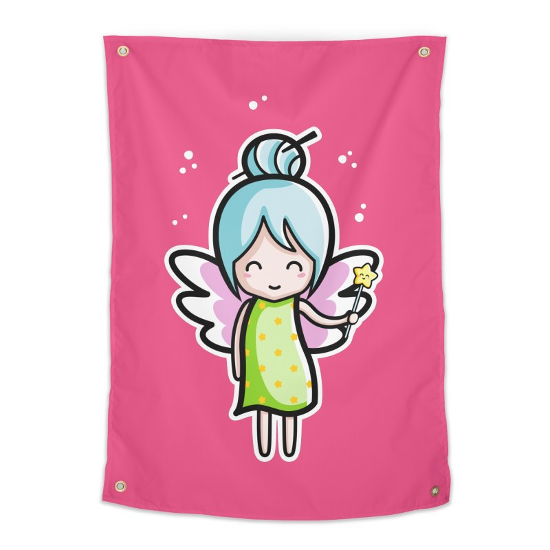 Kawaii Cute Fairy Home Tapestry by Flaming Imp's Artist Shop