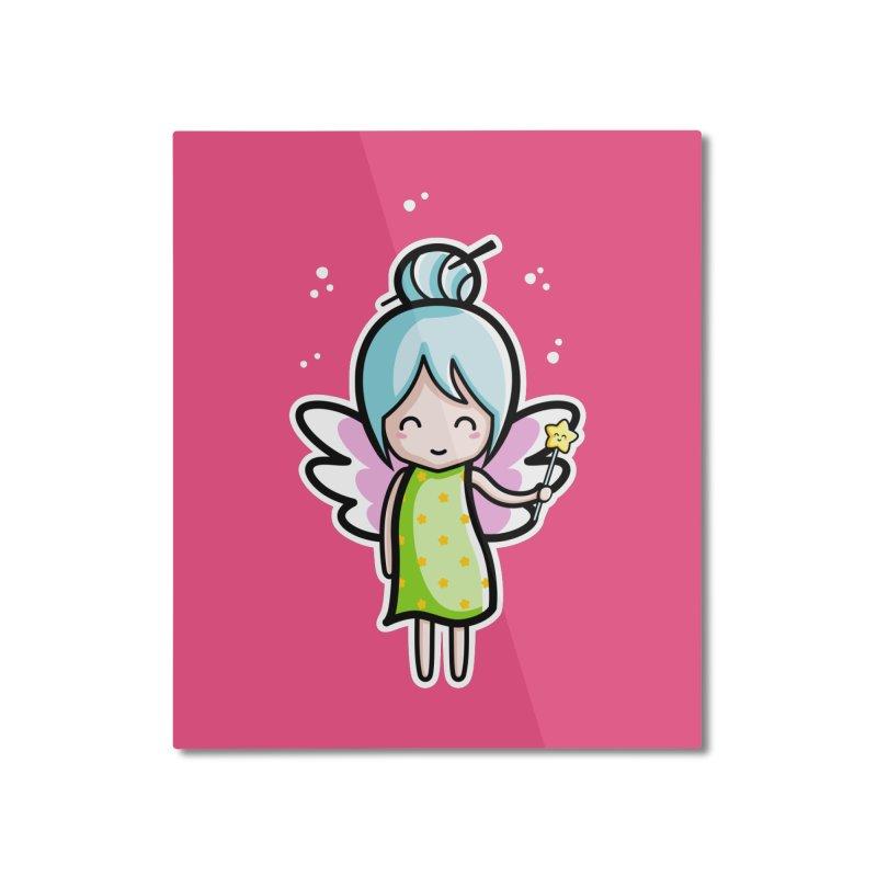Kawaii Cute Fairy Home Mounted Aluminum Print by Flaming Imp's Artist Shop