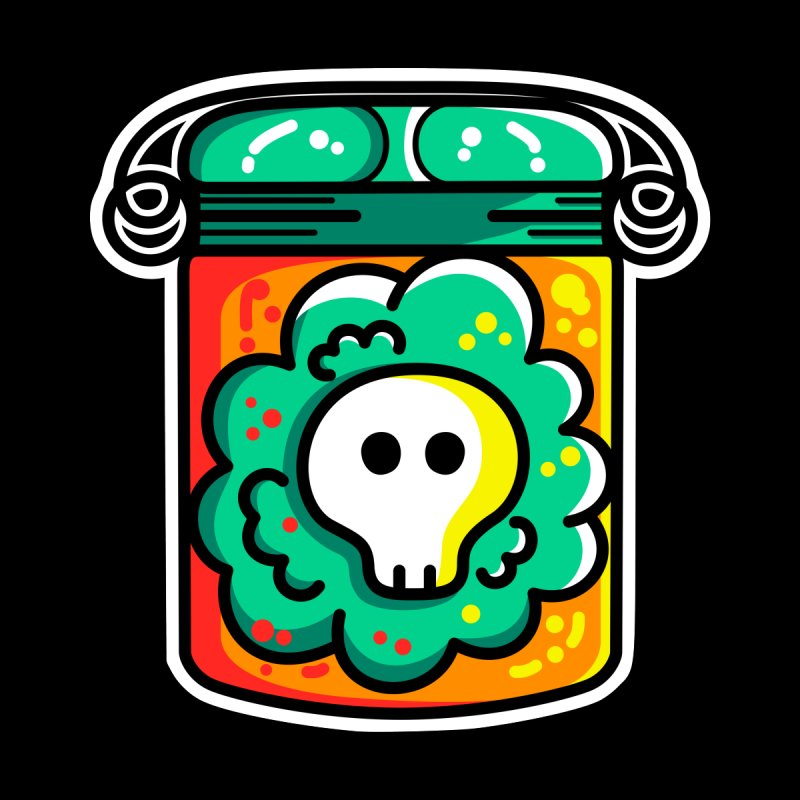 Cute Skull In A Jar Men's T-Shirt by Flaming Imp's Artist Shop