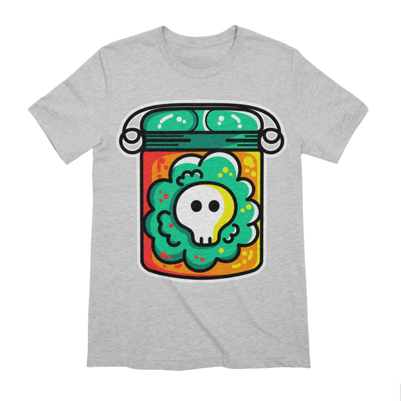 Cute Skull In A Jar Men's Extra Soft T-Shirt by Flaming Imp's Artist Shop