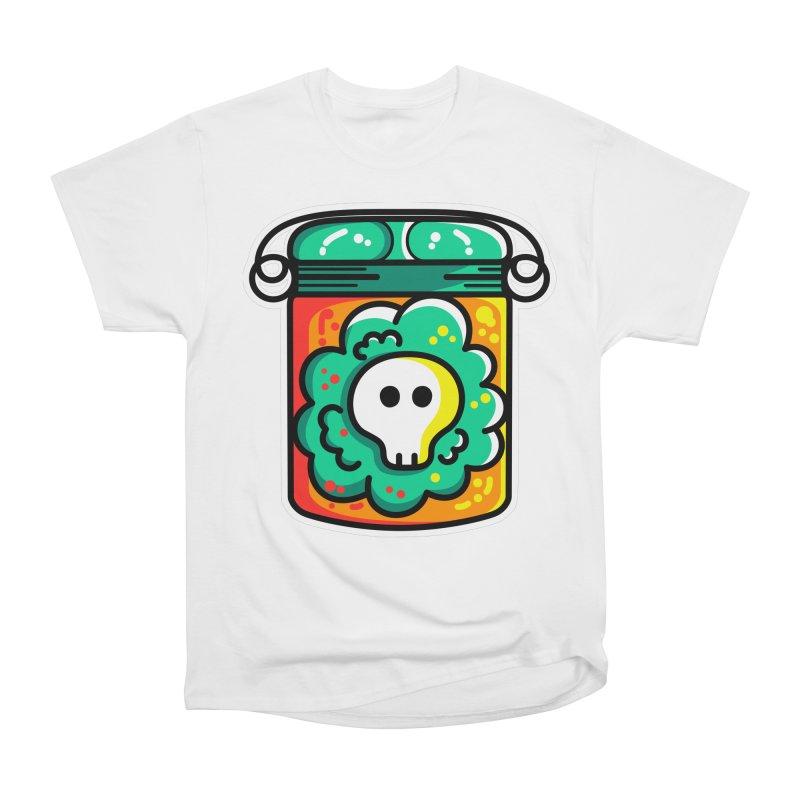 Cute Skull In A Jar Women's Heavyweight Unisex T-Shirt by Flaming Imp's Artist Shop