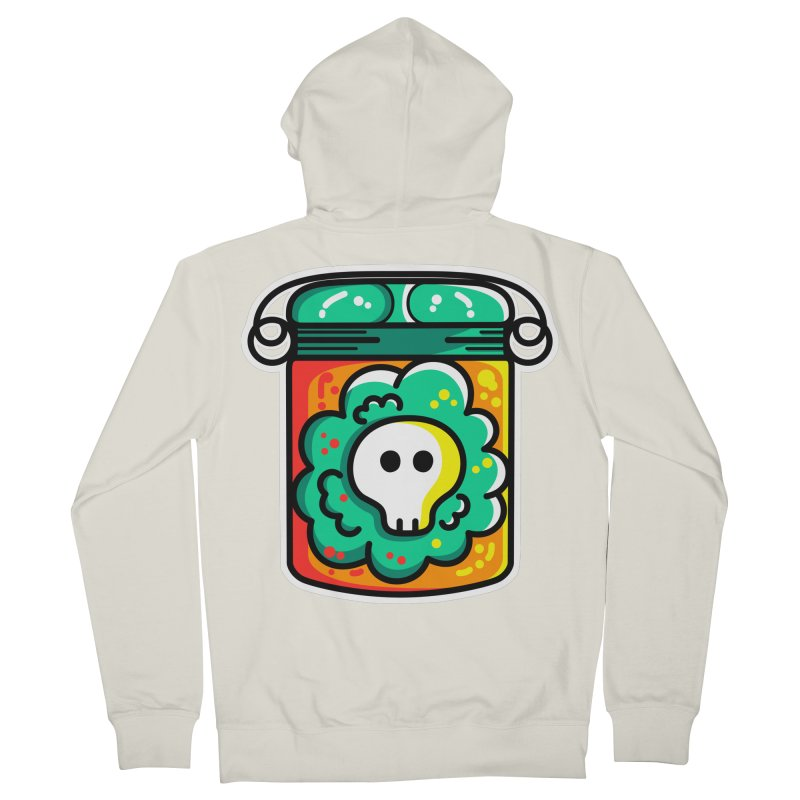 Cute Skull In A Jar Men's French Terry Zip-Up Hoody by Flaming Imp's Artist Shop